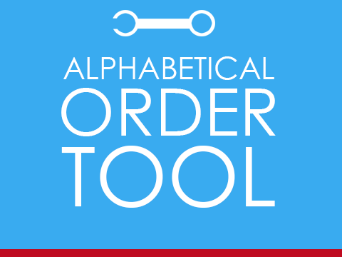 Put any text in Alphabetical Order - free online tool