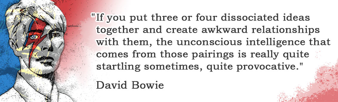 David Bowie quote about using random words for art
