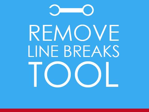 Remove Line Breaks Online Tool